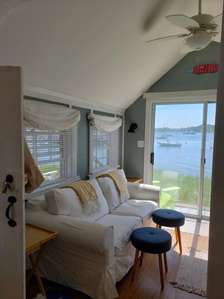 Chatham Cape Cod vacation rental - Living area w/slider to the deck and great water views