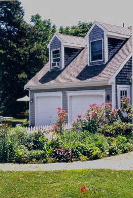 Orleans Cape Cod vacation rental - View of Studio over garage from gardens
