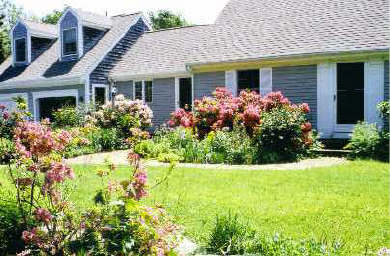 Orleans Cape Cod vacation rental - The adjoining house and gardens