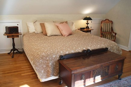 East Falmouth in the historic  Cape Cod vacation rental - Master king size bed in the upstairs master suite w/ private bath