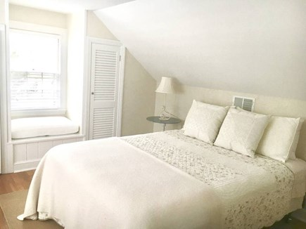 East Falmouth in the historic  Cape Cod vacation rental - Upstairs queen bedroom with private full bath