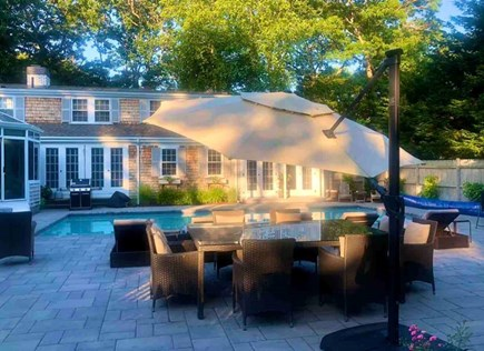 East Falmouth in the historic  Cape Cod vacation rental - Relax on the pool deck
