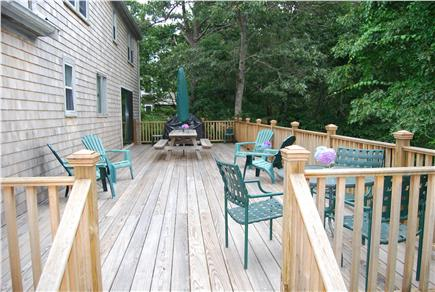 Chatham Cape Cod vacation rental - 40' x 14' Deck with private setting