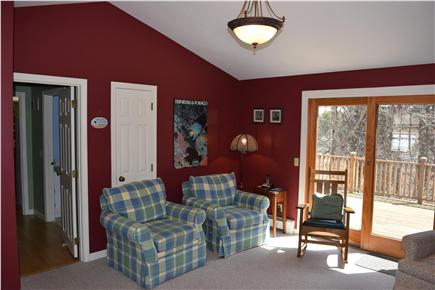 Chatham Cape Cod vacation rental - Family room/Library w/ sliders to private deck