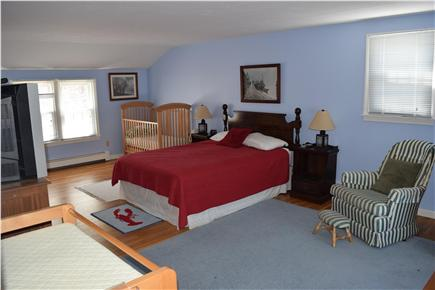 Chatham Cape Cod vacation rental - Over-sized Master with sitting area, TV, Crib and changing table