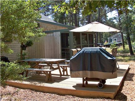 Eastham Cape Cod vacation rental - Outdoor patio and deck, outdoor shower built into screened porch