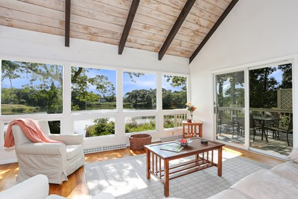 Hyannis Cape Cod vacation rental - Living Room with Pond Views
