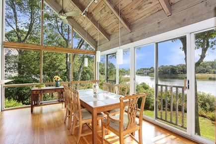 Hyannis Cape Cod vacation rental - Dining Room with Pond Views