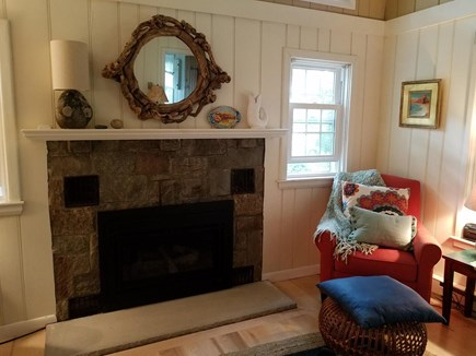 Truro Cape Cod vacation rental - New gas fireplace insert for chilly nights