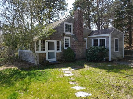 Truro Cape Cod vacation rental - Front and side of cottage.