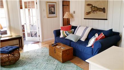 Truro Cape Cod vacation rental - Living Room, which is open to the loft area