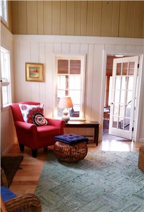 Truro Cape Cod vacation rental - Living room also opens to enclosed porch