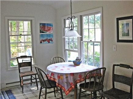 Truro Cape Cod vacation rental - Eating area of Kitchen