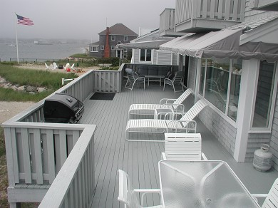 Yarmouth Cape Cod vacation rental - 1st floor deck that extends whole length of home
