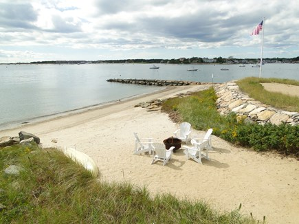 Yarmouth Cape Cod vacation rental - View from upper deck of 100' private sandy beach