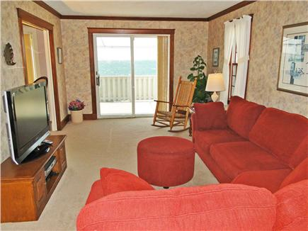 Yarmouth Cape Cod vacation rental - Second living area with flat screen TV, deck facing water