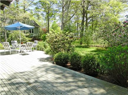 New Seabury, Mashpee New Seabury vacation rental - Large Deck with Seating and Grill, Overlooking Large Backyard