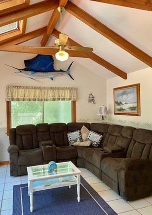 West Yarmouth Cape Cod vacation rental - Family Room with sailfish!