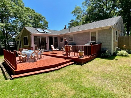 West Yarmouth Cape Cod vacation rental - Rear double deck perfect for outside dining and lounging