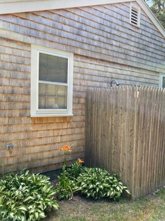 West Yarmouth Cape Cod vacation rental - Outdoor shower + dressing area