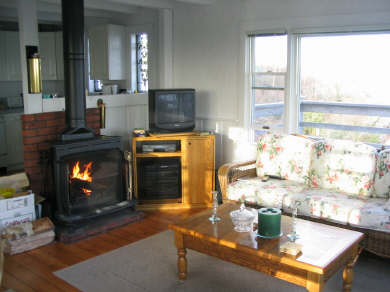 Provincetown Cape Cod vacation rental - Living Room w/view of deck overlooks town &harbor