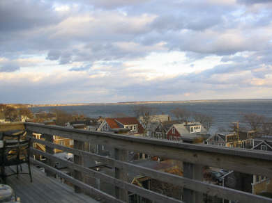 Provincetown Cape Cod vacation rental - Deck offers stunning sunrises and sunsets
