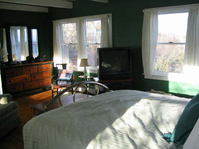 Provincetown Cape Cod vacation rental - Master bedroom with king bed and stunning views