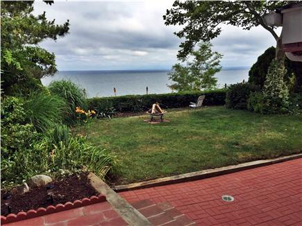 Plymouth, Manomet MA vacation rental - Daytime in back yard high overlooking Plymouth Bay