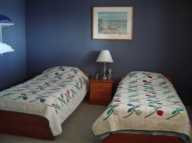 Plymouth, Manomet MA vacation rental - Bedroom, one of 5, this one with two twin beds on first floor