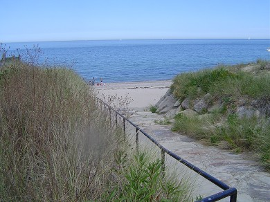 Plymouth, Manomet MA vacation rental - Private Manomet Beach under a 5-minute walk away!