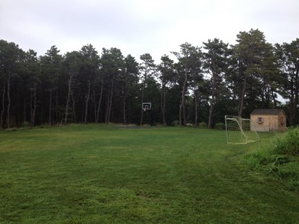 Wellfleet Cape Cod vacation rental - Large Yard with Basketball Court and Sports shed