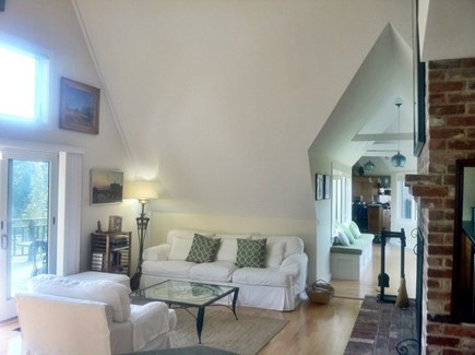 Wellfleet Cape Cod vacation rental - Living Area with fireplace
