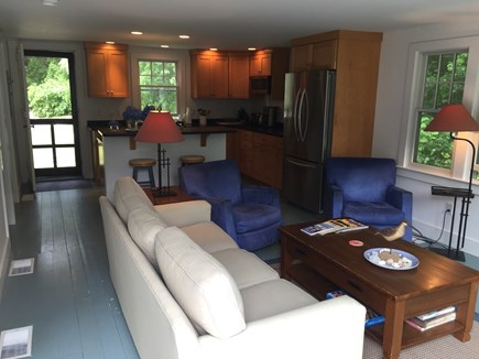 Chatham Cape Cod vacation rental - Living Room/Kitchen in the back