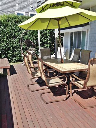 Falmouth Cape Cod vacation rental - View of Back of house - 2 decks - large lower - small upper
