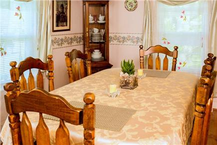 West Yarmouth Cape Cod vacation rental - Dining table for six