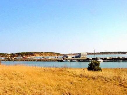 Wellfleet Cape Cod vacation rental - View from the deck towards Wellfleet Harbor pier