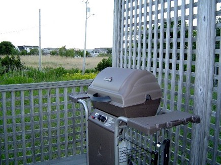 Wellfleet Cape Cod vacation rental - Barbecue right on the deck.  There is a picnic table on the deck.