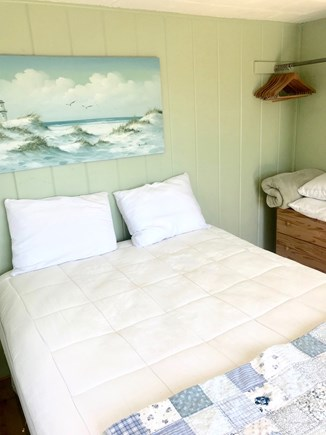 Wellfleet Cape Cod vacation rental - Queen size comfortable clean bed and cozy blankets & pillows.