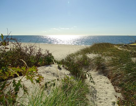 South Yarmouth Cape Cod vacation rental - 50 yard private walkway, shared with 3 condos.