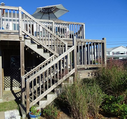 South Yarmouth Cape Cod vacation rental - Second floor deck with ocean views