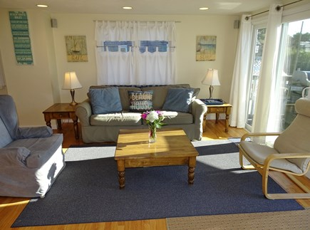 South Yarmouth Cape Cod vacation rental - Living room with plenty of comfortable seating, flat screen TV