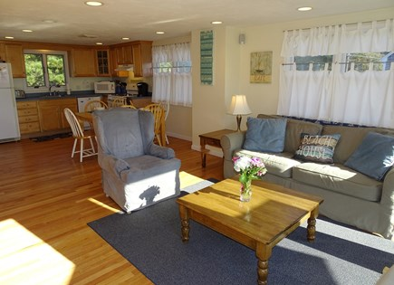 South Yarmouth Cape Cod vacation rental - Open living space, includes dining area with AC.