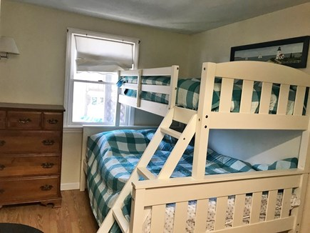 South Yarmouth Cape Cod vacation rental - Bunk bed room with full on bottom, twin on top.