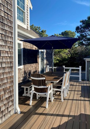 Eastham Cape Cod vacation rental - Large outdoor table with seating for 10