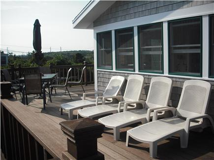 East Sandwich Cape Cod vacation rental - Wrap around deck facing the beach and ocean