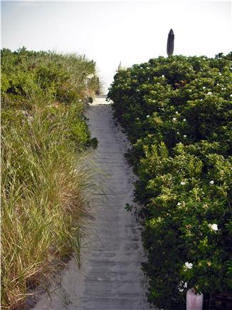 East Sandwich Cape Cod vacation rental - Walkway to Dune Deck and steps to the sandy beach