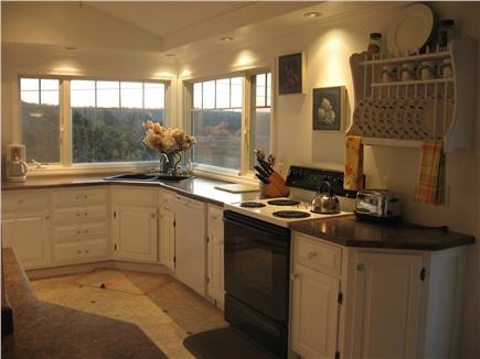 East Sandwich Cape Cod vacation rental - Spacious kitchen with beautiful views and sunset