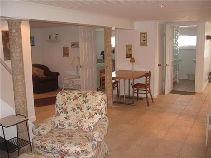 East Sandwich Cape Cod vacation rental - Open floor plan in lower level w bedroom, bath, game room, laun.
