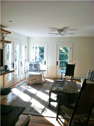 Eastham Cape Cod vacation rental - Sunny living room from the dining room