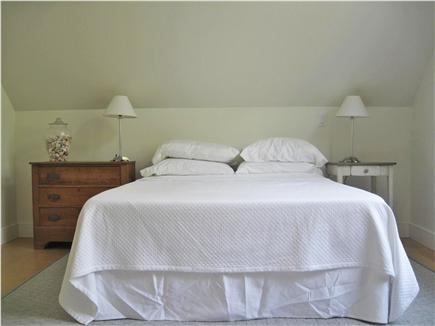 Eastham Cape Cod vacation rental - Master bedroom with cathedral ceiling